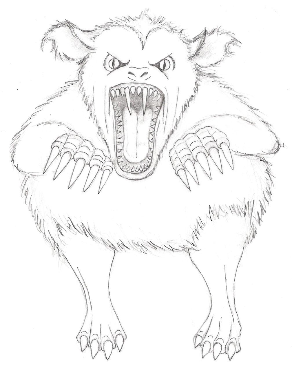 artist impression of the Burnell Beast