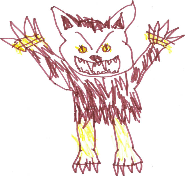 child drawing of the Beast
